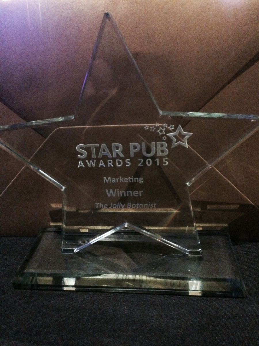 Winner at Star Pub Awards 2015